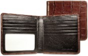 Jack Georges Croco Hipster Mens Leather Wallet