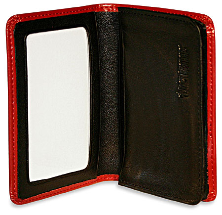 Jack Georges Milano Leather Business Card Holder