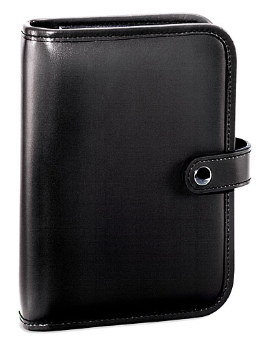 Jack Georges Milano Six-Ring Leather Organizer with Snap Closure