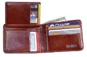 Jack Georges Sienna Bi-Fold with Flap Mens Leather Wallet