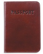Jack Georges Sienna Leather Passport Cover