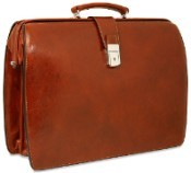 Jack Georges Sienna Classic Briefbag  Leather Briefcase