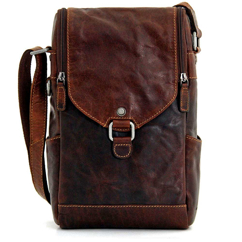 Leather Wine Carrier >> Jack Georges Voyager Leather Crossbody Messenger Wine Bag
