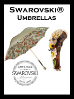 Luxury Women's Umbrellas with Swarovski Crystals
