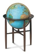 Replogle Austin Illuminated Floor Globe - Blue