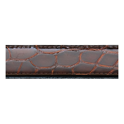 Chocolate Genuine Alligator Men's Dress Belt