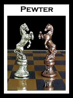Pewter Chess Sets