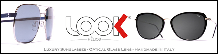 Helios Glass Lens Luxury Sunglasses by Look -  made in Italia