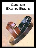 Custom Exotic Leather Belts