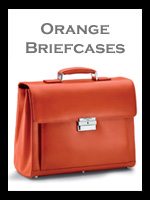 Orange Leather Briefcases
