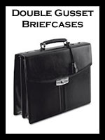 Leather Double Gusset Briefcases