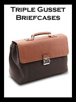 Leather Triple Gusset Briefcases