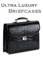 High End Luxury Leather Briefcases