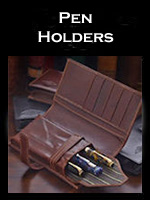 Luxury Leather Pen Holders & Cases