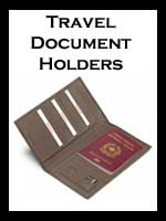 Luxury Leather Travel Document Holders