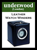Underwood Watch Winders with Luxury Leather