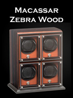 Underwood Macassar Zebra Wood Watch Winder Collection