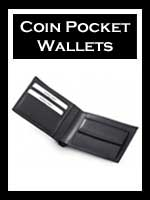 Men's Leather Wallets with Coin Pocket