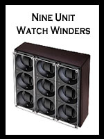 Handmade Nine Unit Watch Winders