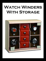 Automatic Winder Boxes with Storage: Watches, Jewelry, Cufflinks
