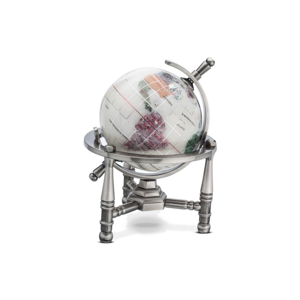 Opal Opalite Gemstone Globe (GNT80AS-OPL) - Nautical Stand