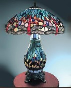 Blue Dragonfly Tiffany Style Lamp