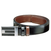 Caran d'Ache Carbon Palladium Buckle Reversible Belt