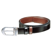 Caran d'Ache Classic Round Palladium Plated Buckle Reversible Belt