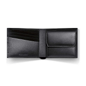 Caran d'Ache - Delvaux Leather 4 Card Mens Wallet with Coin Pocket