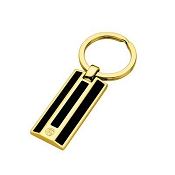Caran d'Ache Black Lacquered Gilded Gold Key Fob