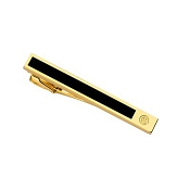 Caran d'Ache Black Lacquered Gilded Gold Tie Bar
