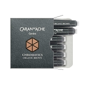 Caran d'Ache Chromatics Organic Brown Fountain Pen Ink Cartridges