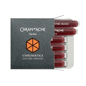 Caran d'Ache Chromatics Electric Orange Fountain Pen Ink Cartridges