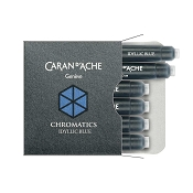 Caran d'Ache Chromatics Idyllic Blue Fountain Pen Ink Cartridges