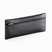 Caran d'Ache Cuir Zipped Black Leather Pen Case