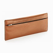 Caran d'Ache Cuir Zipped Beige Leather Pen Case