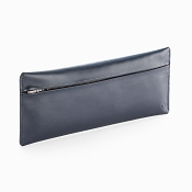 Caran d'Ache Cuir Zipped Midnight Blue Leather Pen Case