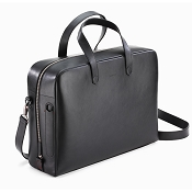 Caran d'Ache Cuir Black Leather Attache Bag