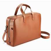 Caran d'Ache Cuir Beige Leather Attache Bag