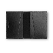 Caran d'Ache Haute Maroquinerie Black Leather Business Card Holder