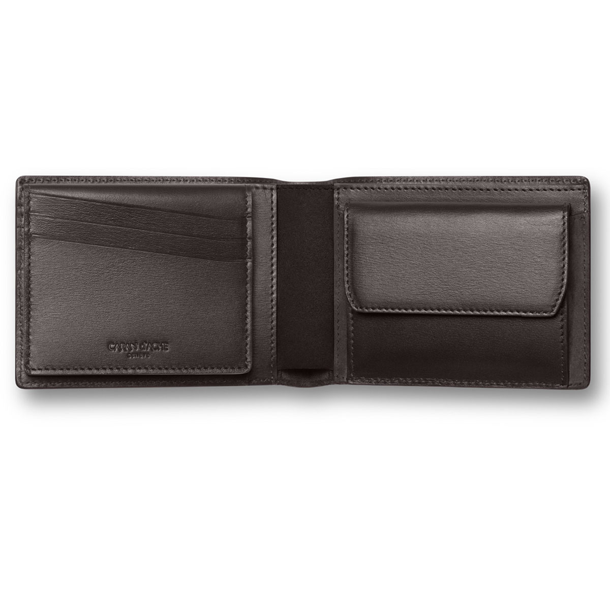 Caran d'Ache Haute Maroquinerie Ebony Leather 14-Credit Card Wallet