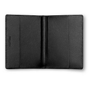Caran d'Ache Haute Maroquinerie Black Leather Passport Holder