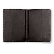Caran d'Ache Haute Maroquinerie Ebony Leather Passport Holder