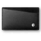 Caran d'Ache Haute Maroquinerie Black Leather Multi Credit Card Case