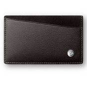 Caran d'Ache Haute Maroquinerie Ebony Leather Multi Credit Card Case