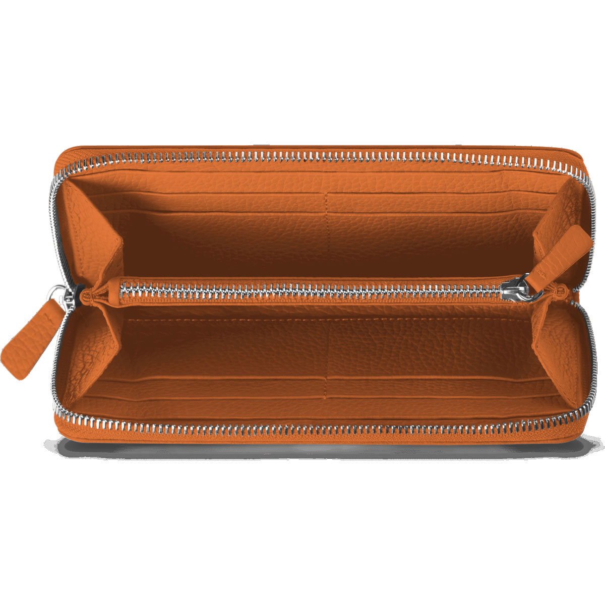 Caran d'Ache Leman Saffron Leather Women's Zip Around Wallet