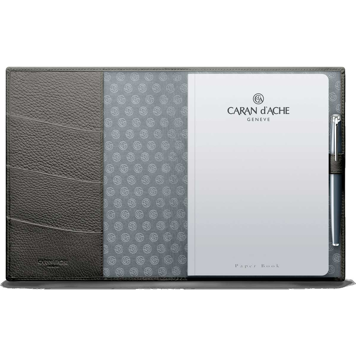 Caran d'Ache Leman Grey Leather A5 Notebook