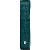 Caran d'Ache Leman Amazon Green Leather One Pen Case