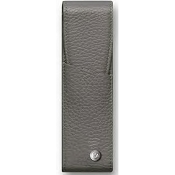 Caran d'Ache Leman Grey Leather Two Pen Case