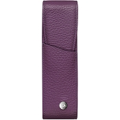 Caran d'Ache Leman Lilac Leather Two Pen Case